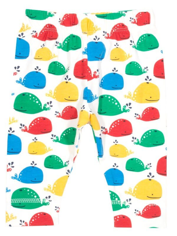 Pantaloni bebe Rainbow Whale