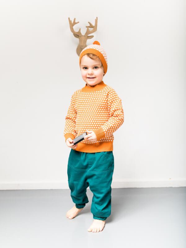 Pantaloni căptuşiţi Bimisi verzi, toamnă-iarnă