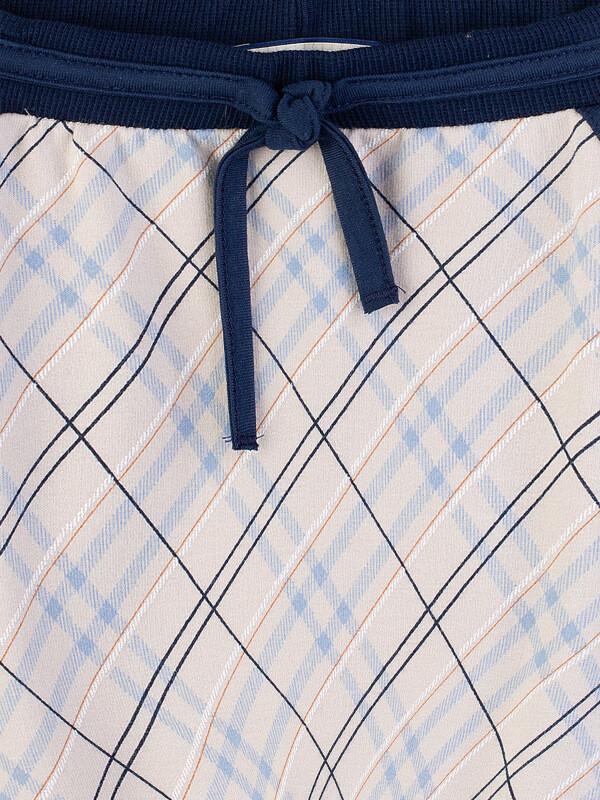 Pantaloni eleganţi bebe, imprimeu romburi