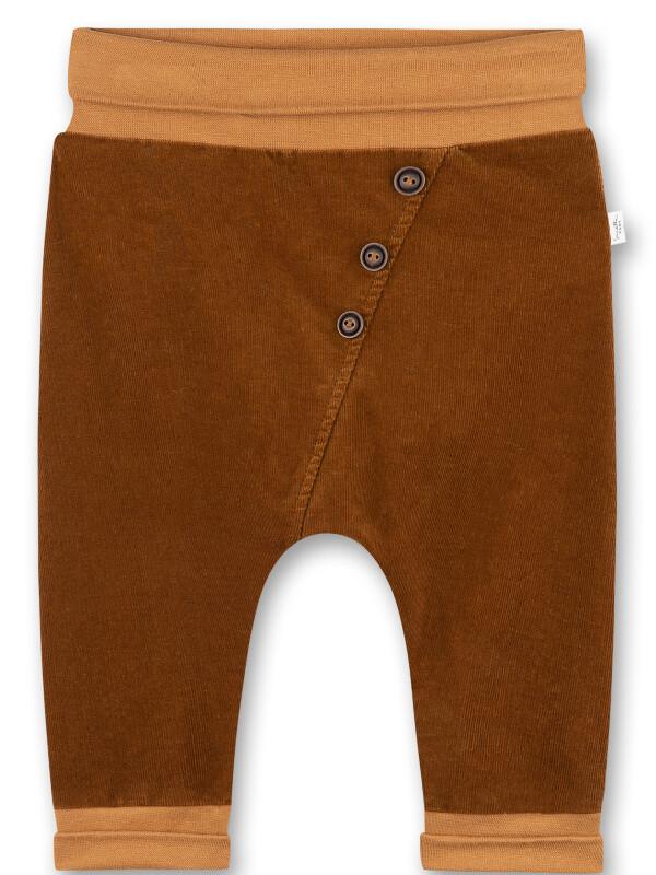 Pantaloni maro bebe Sanetta Pure