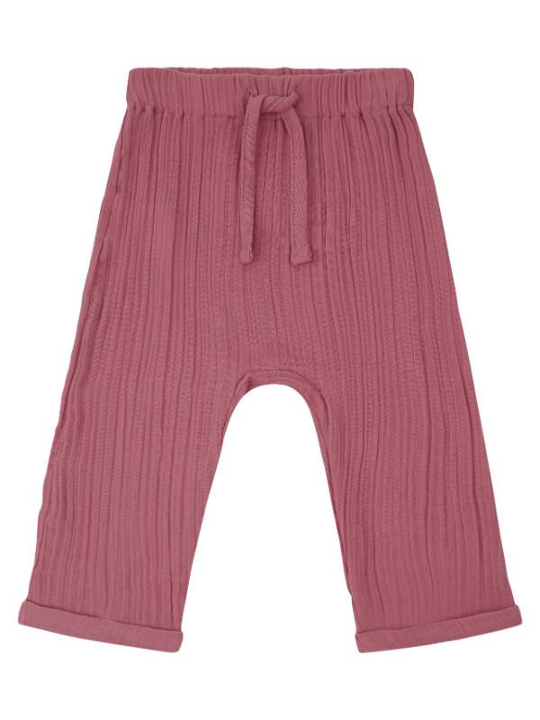 Pantaloni muselină bebe Mare Rose