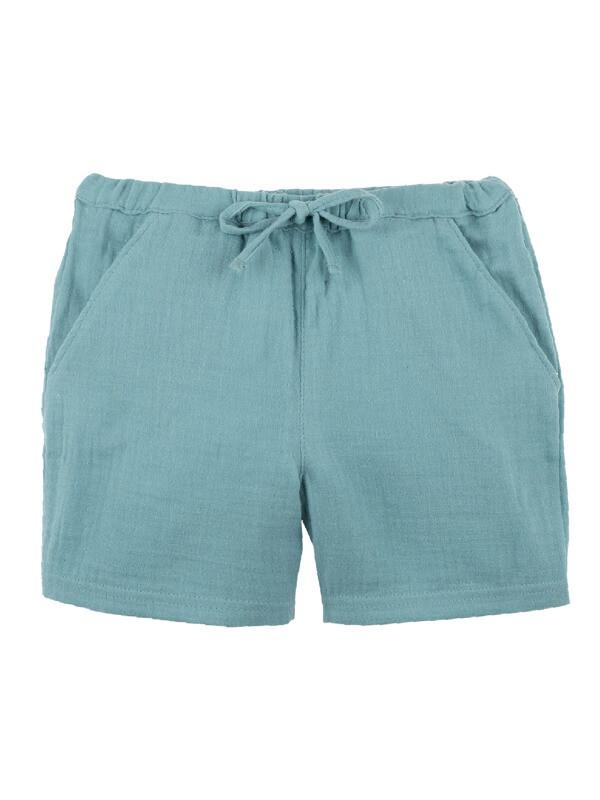 Pantaloni scurţi copii, muselină Minty Ice