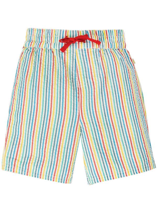 Pantaloni scurţi dungi multicolore Akiara