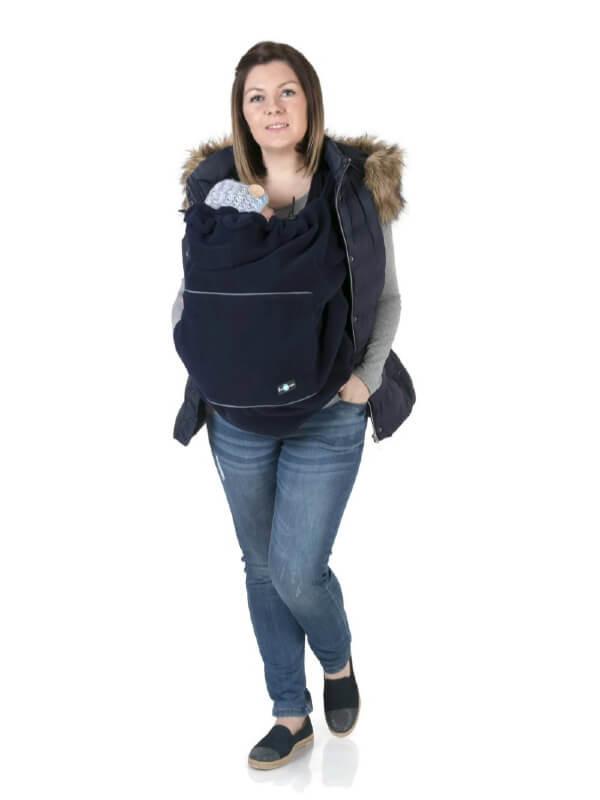 Protecţie din fleece pentru babywearing Navy Stars