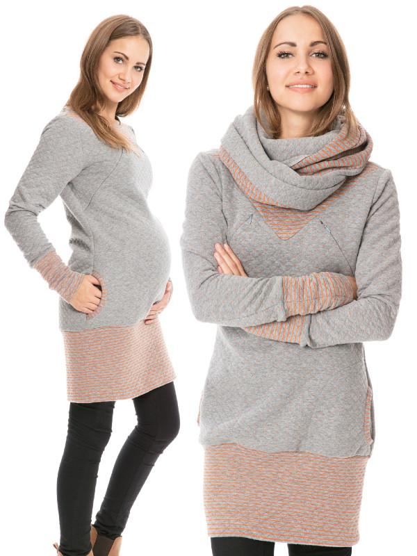 Rochie sarcină și alăptare Adele gri