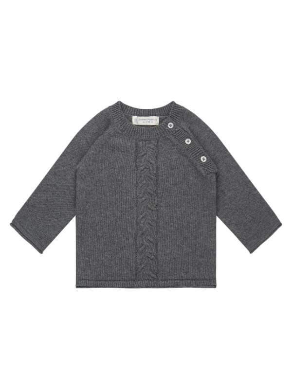 Pulover tricotat bebe Dark Grey
