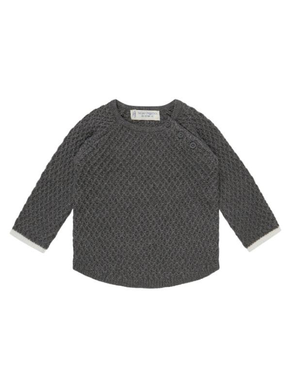 Pulover tricotat bebe Keme gri