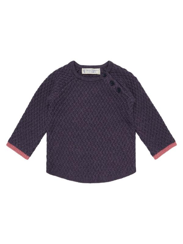 Pulover tricotat bebe Keme mov