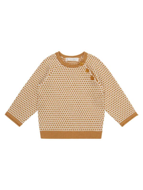Pulover tricotat bebe Victor Caramel