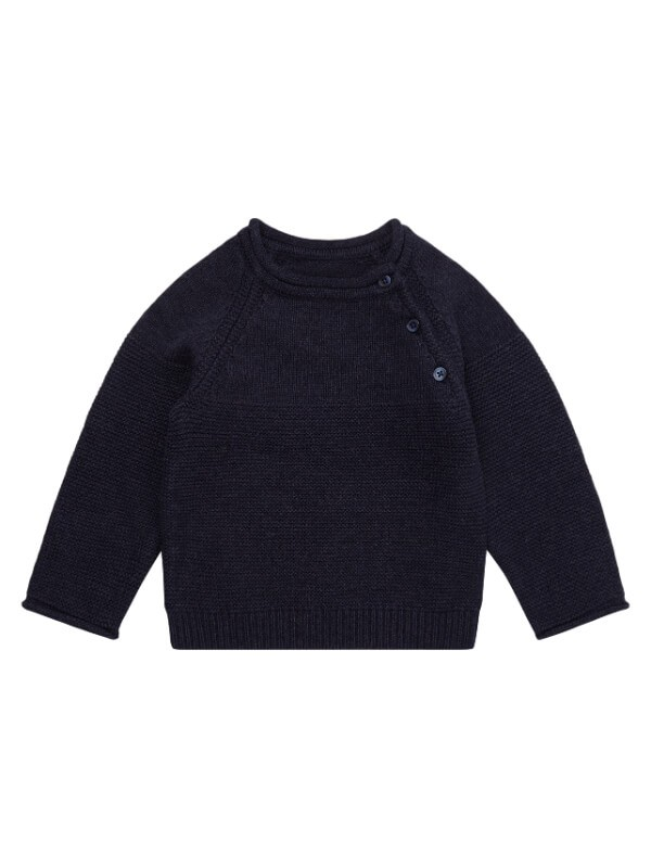 Pulover tricotat bebe Victor Navy