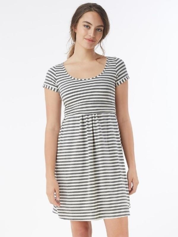 Rochie pentru alăptare, mânecă scurtă, Stripes