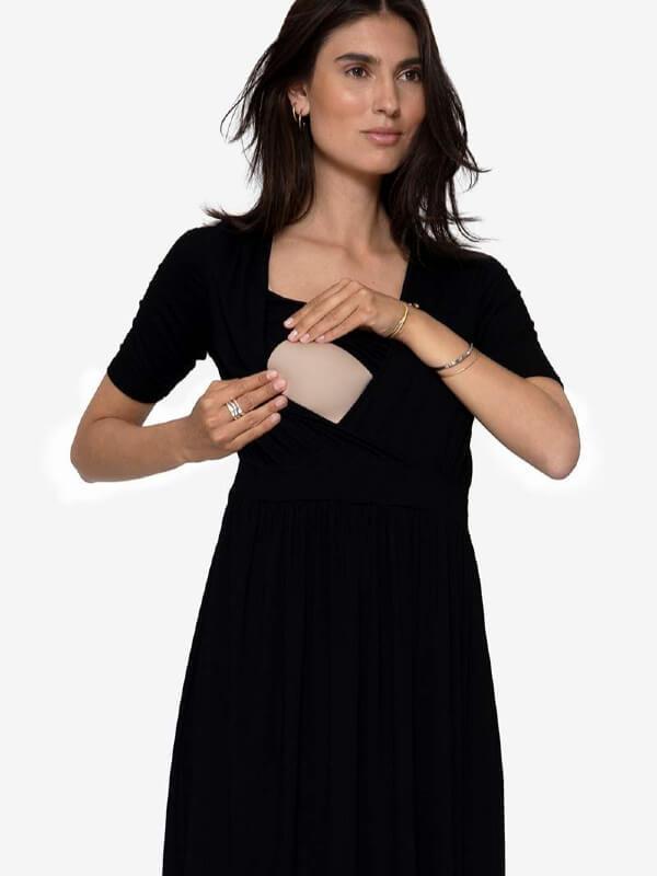 Rochie sarcină şi alăptare Ziga, neagră