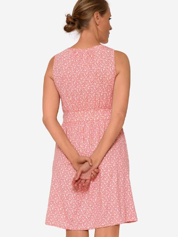 Rochie sarcină şi alăptare Zoo, imprimeu floral roz