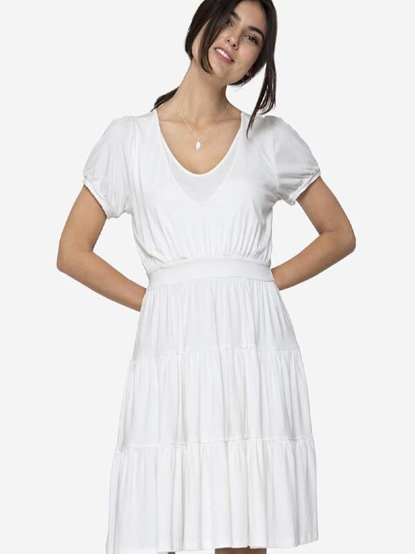 Rochie sarcină şi alăptare Zuset albă