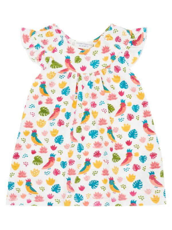 Rochiţă bebe Mimi Parrots