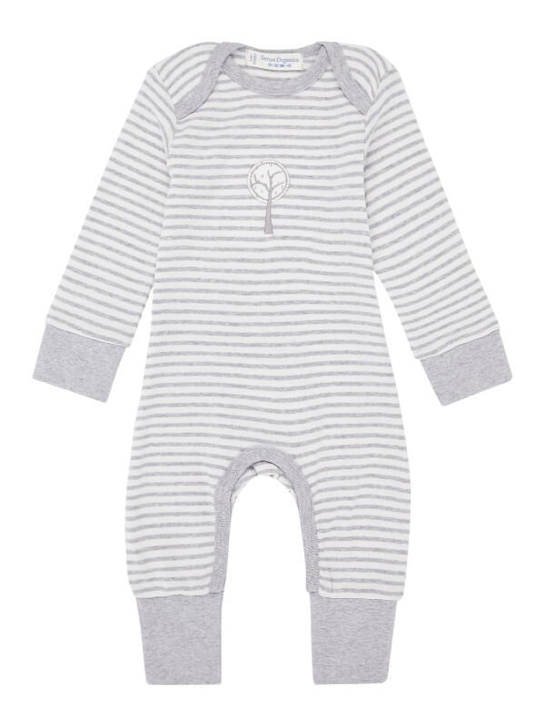 Salopetă bebeluşi Wayan Grey Stripes