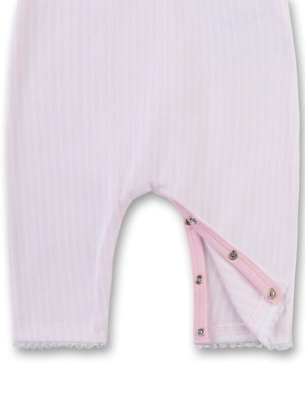 Salopetă ocazii speciale bebeluşe, dungi roz