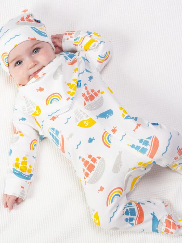 Salopetă pijama bumbac organic Ship