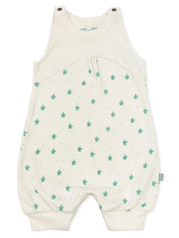Salopetă scurtă bebe Dotted Leaves