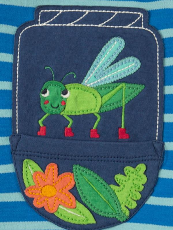 Salopetă scurtă copii Ray Raglan Grasshopper