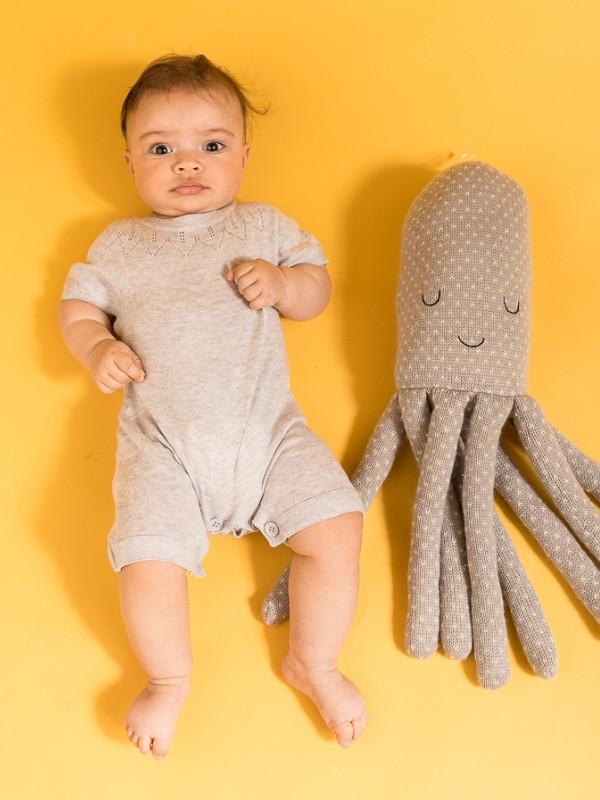 Salopetă scurtă tricotată Leha