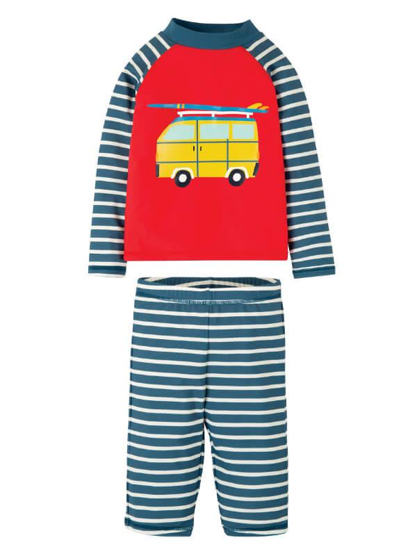 Set bluză şi pantaloni plajă UPF 50+ Camper