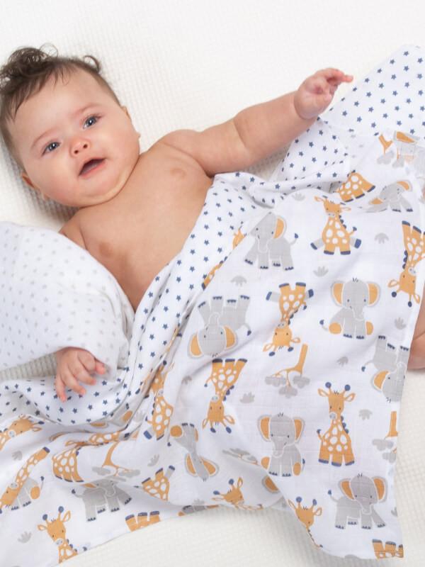 Set păturici din muselină Giraffe