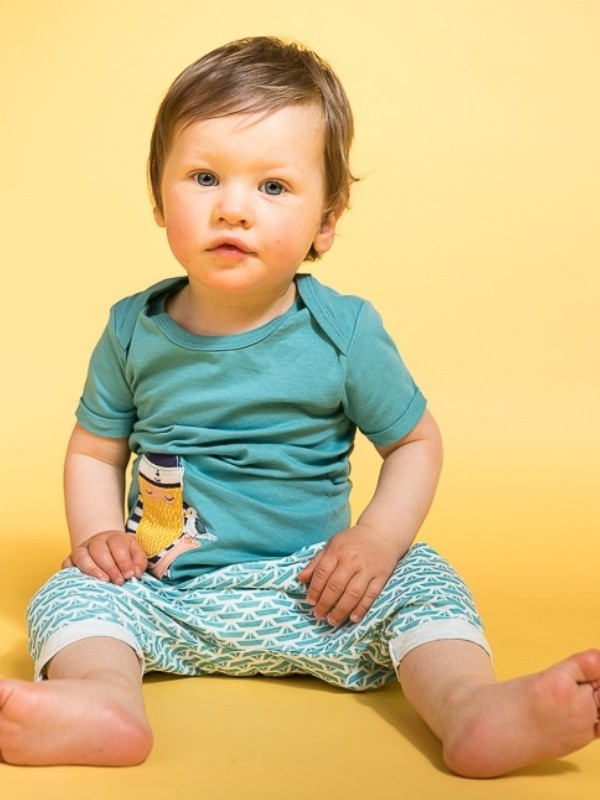 Tricou bebe Tobi albastru