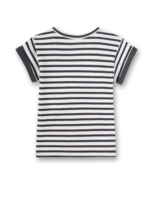 Tricou cu dungi gri