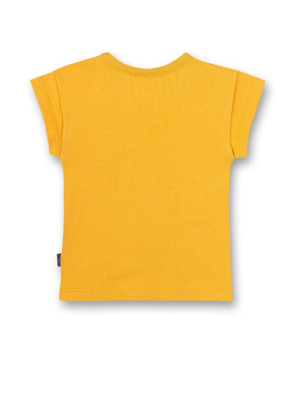 Tricou galben băieţi, imprimeu cu pene