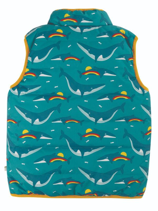 Vestă reversibilă băieţi Explorer Rainbow Whales