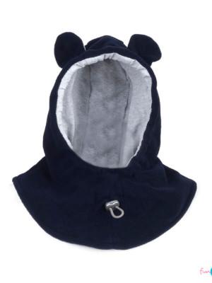 Cagulă din fleece pentru bebe Navy Grey