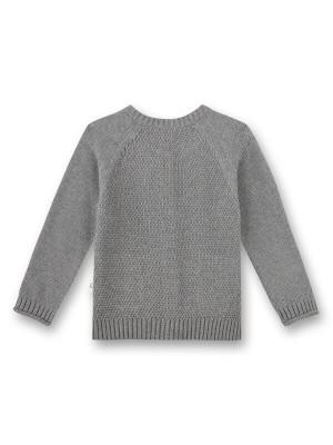 Cardigan unisex tricotat Sanetta Pure Grey, bumbac şi mătase