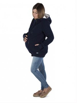 Hanorac sarcină şi babywearing 3în1 New Luna Navy Stars