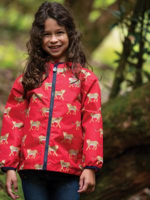 Jachetă impermeabilă Rain or Shine Red Leopards