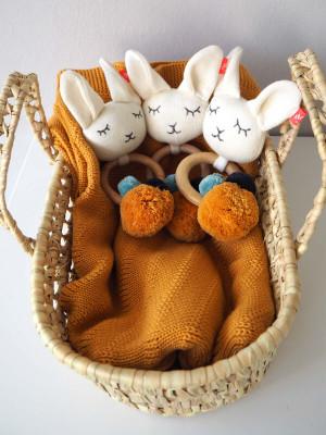 Jucărie zornăitoare inel lemn Lama