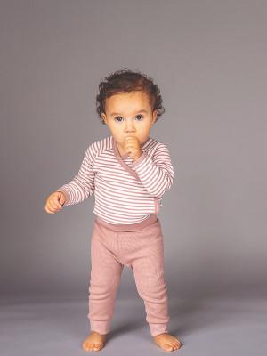 Pantaloni bebe Karli Waffle Woodrose