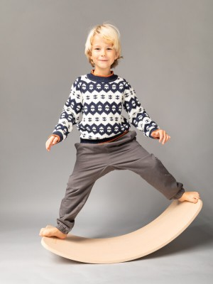 Pantaloni Bimisi gri, toamnă-iarnă
