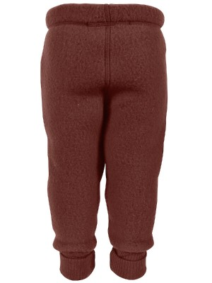 Pantaloni lână fleece Madder Brown