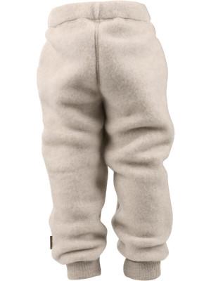 Pantaloni lână fleece Melange White