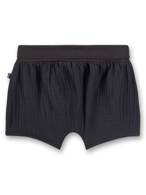 Pantaloni scurţi bebe muselină Seal Grey