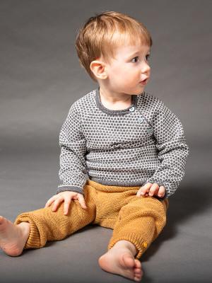 Pantaloni tricotaţi bebe Proust Caramel