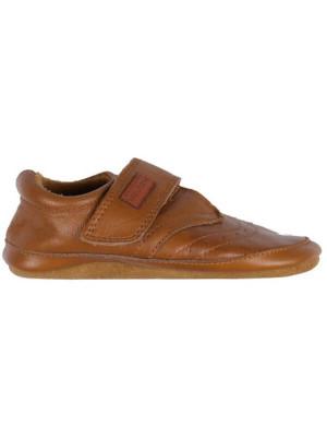 Papuci de casa din piele Cognac
