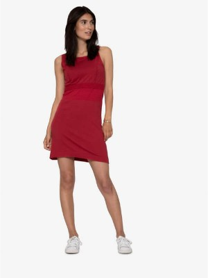 Rochie alăptare Miller Red, bumbac organic