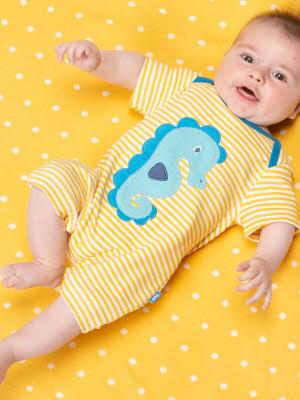 Salopetă scurtă bebe Seahorse