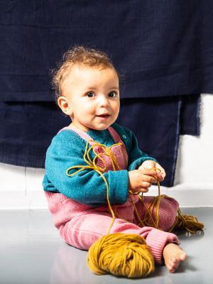 Salopetă tricotata Mion Rose