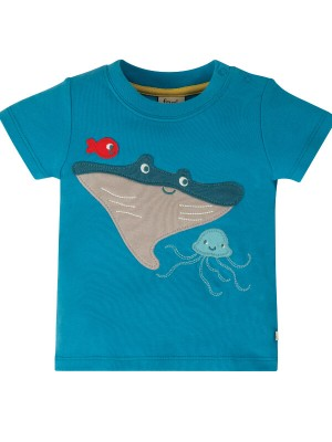 Tricou bebeluşi Little Creature Blue