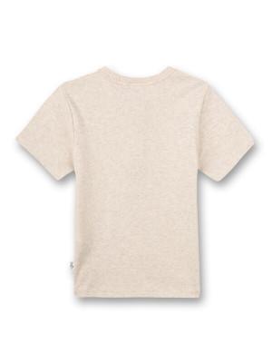 Tricou bej pentru băieţi Sanetta Pure, bumbac organic