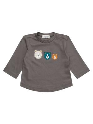 Bluză bebeluşi Chesmu Grey, bumbac organic