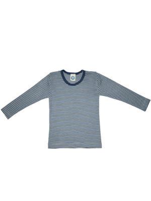 Bluză copii lână şi mătase, dungi marine